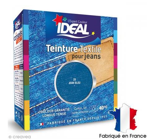 Teinture Tissu Idéal liquide Bleu jeans 25 maxi