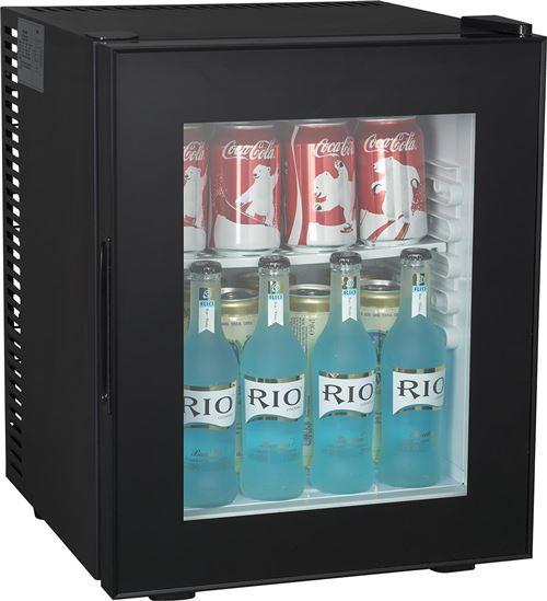 Brandy Best WINDOW280 Mini-bar vitré 26 litres Noir totalement silencieux catégorie A+