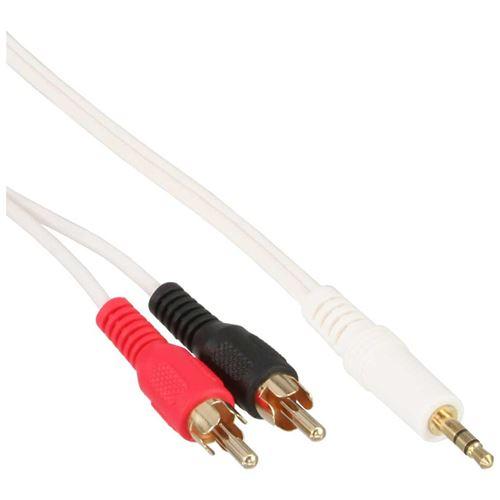 Câble InLine® 2x RCA mâle vers 3.5mm mâle en or blanc 7,5m