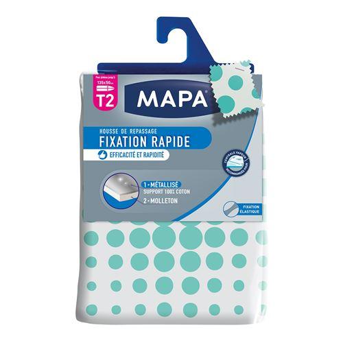 MAPA Housse Table à Repasser Spécial Vapeur Fixation Rapide T2 - 135x50 cm
