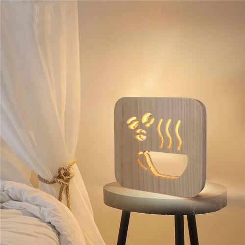 Creative Craft Décoration Lampe en bois Led Lumière Veilleuse Lampe de table_onaeatza446