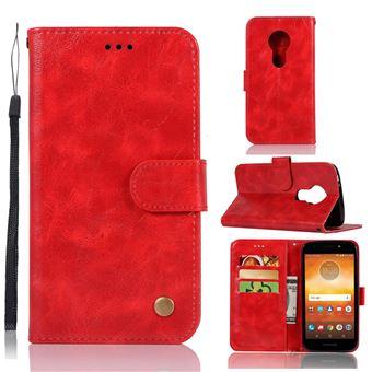 a71f6eab2e6 Etui en PU vintage premium rouge pour votre Motorola Moto E5 Moto G6 Play - Etui  pour téléphone mobile - Achat   prix