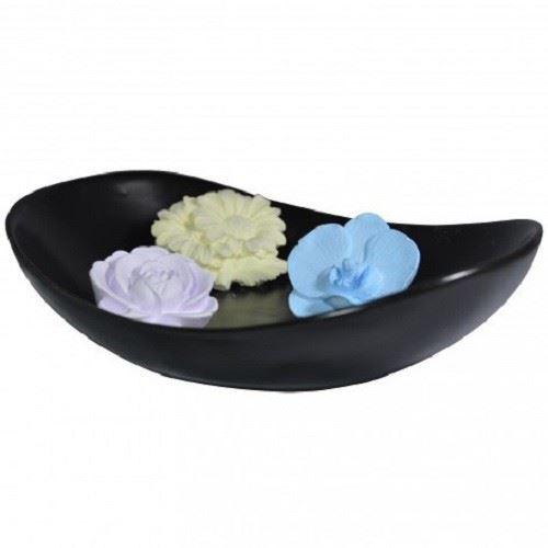 Diffuseur Plâtre à Parfumer Floral et Soucoupe ovale