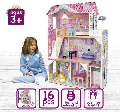 Grande maison de poupée avec ascenseur