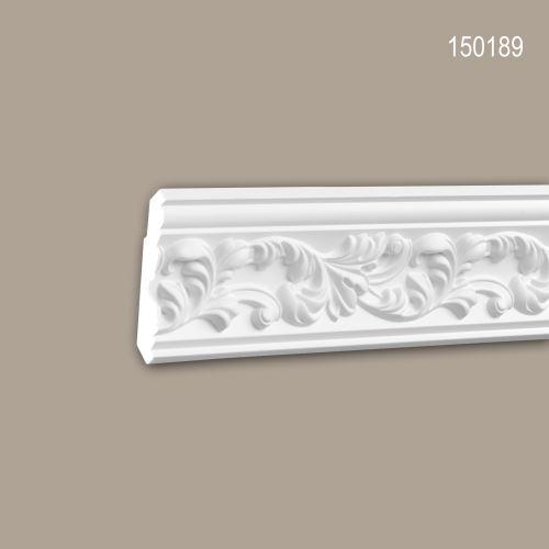 Corniche 150189 Profhome Moulure décorative style Rococo-Baroque blanc 2 m