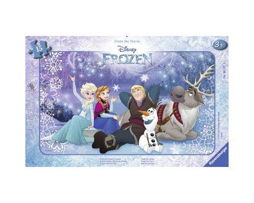 Puzzle cadre 15 pièces Ravensburger Sous les étoiles Disney Frozen La Reine des Neiges