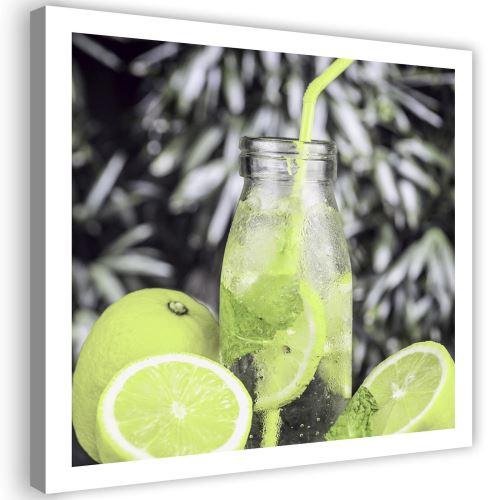 Impression sur toile Tableau Image moderne Canevas Boisson Citrons 2 80x80
