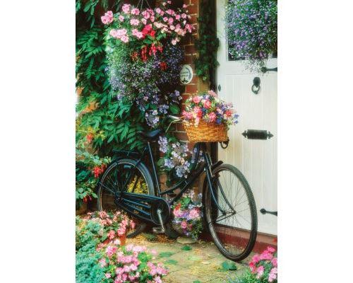 Puzzle 500 Pièces : Vélo et Fleurs, Art Puzzle