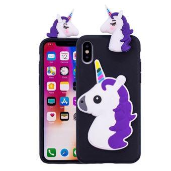 coque iphone x 3d licorne
