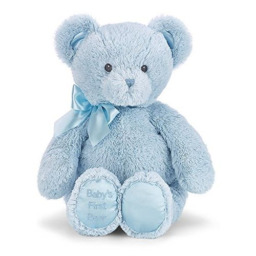 Bearington Baby's First Bear Large Blue Stuffed Animal Teddy 18