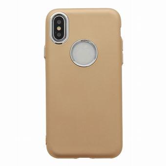 coque iphone x silicone beige