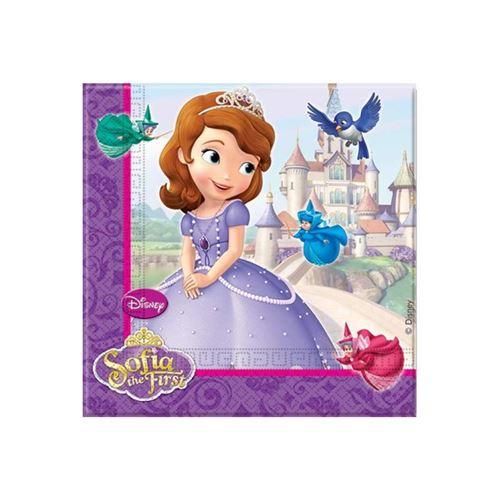20 serviettes 33x33 princesse sofia