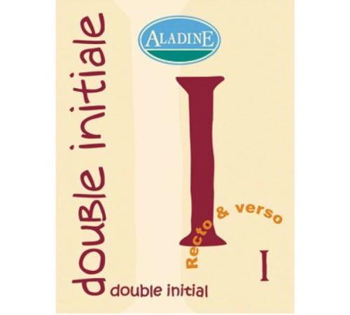Cachet double initiale I 2 cm
