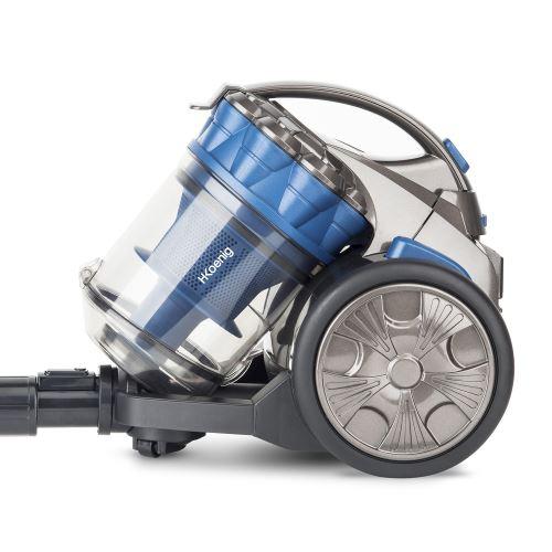 Aspirateur sans sac H.Koenig STC68 Compact+ Spécial animaux 700 W Bleu