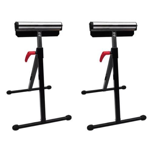 2 PCs Servantes d'atelier à Rouleaux Réglable en Hauteur 67 cm - 101 cm