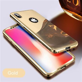 Coque Protection Integrale Pour Iphone 6 6S Miroir Couleur Or Vitre de Protection Full Protect 360 Case Gla