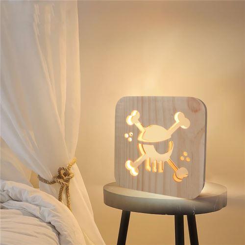 Creative Craft Décoration Lampe en bois Led Lumière Veilleuse Lampe de table_onaeatza448