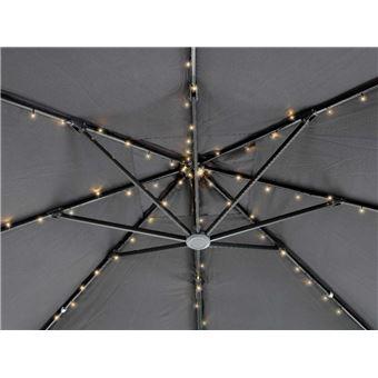 Guirlande solaire 72 Led pour parasol - Blanc chaud - Accessoires ...