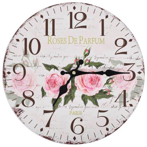 Horloge murale style rétro Décorative Cuisine Horloge pour Salon bureau Diamètre : 30 cm