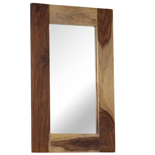 Miroir Mural Miroirs en verre + bois Miroir Décoration pour Salon miroir Salle de Bains Wodden miroirs 50 x 80 cm Modèle 1