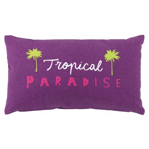 Coussin 30x50 Pacifique Tropical prune