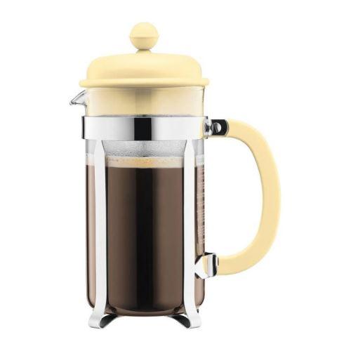bodum caffettiera cafetiere a piston - 8 tasses - 1 l - jaune pastel
