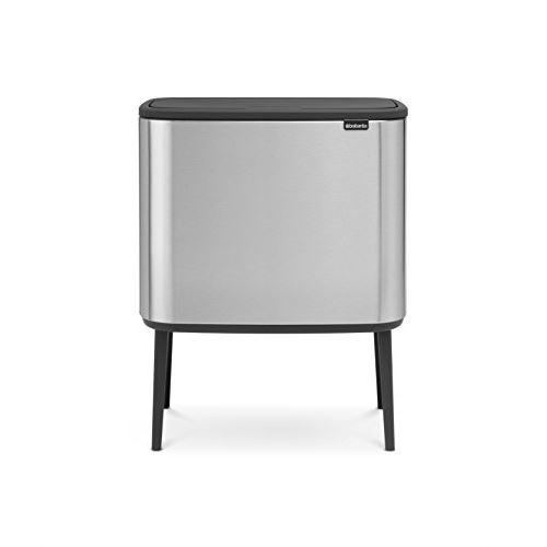 Brabantia - 316227 - poubelle bo touch bin, 11 + 23 litres, acier mat antitraces de doigts