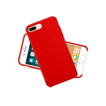 coque iphone 8 plus silicone rouge apple