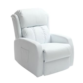 Fauteuil relax électrique massant blanc GALLER Achat & prix