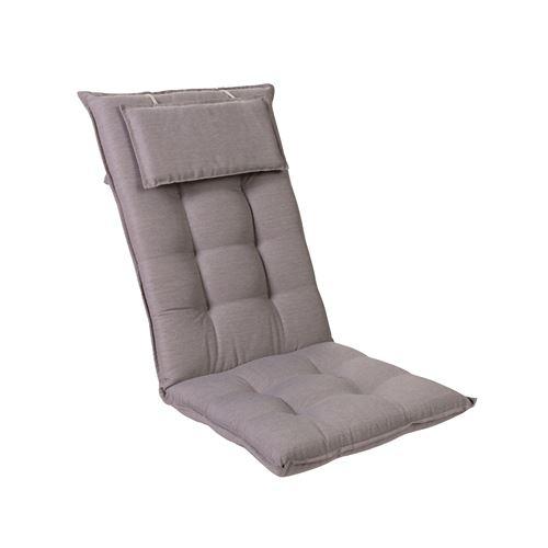 Coussin de chaise de jardin -Blumfeldt Sylt -120 x 50 x9 cm -1 pièce -Gris/Gris clair