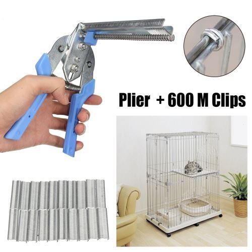 de fil de cage d'oiseau de pinces de cage de porc d'animal de compagnie de volaille pratique