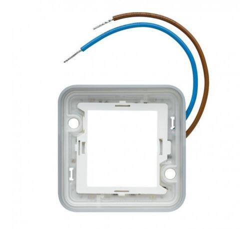 Collerette lumineuse Cubyko pour mécanisme associable - compsable - IP55 - Bleu - 230V