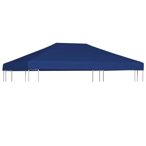 vidaXL Toile supérieure de belvédère 310 g/m² 4x3 m Bleu
