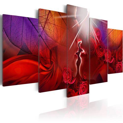 Tableau toile de décoration motif Kiss from rose 100x50cm DEC110116/2