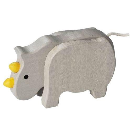 Everearth figure rhino gris 14x8x4 cm