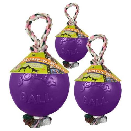 Jolly Pets Balle pour chiens Romp-n-Roll 10 cm Violet