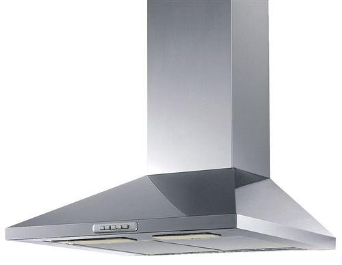 Airlux AHP65IXN - Hotte - hotte décorative - largeur : 60 cm - profondeur : 48.5 cm - evacuation & recyclage - acier inoxydable