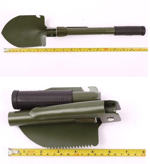 Portable Mini Pelle Pliante Survie Spade Multifonctionnel pour la p/êche en Plein air Camping Delaman Pelle Pliante