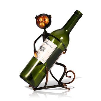 Tooarts Singe Casier /à Vin en M/étal Casier /à Bouteille Sculpture D/écoration Artisanat de D/écoration dInt/érieur