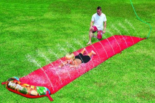 Tapis de glisse a eau angry birds 488 cm - jouet enfant - jeu de plein aire