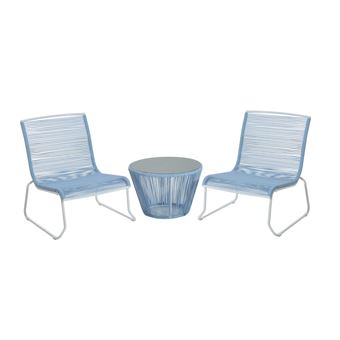 Ensemble salon de jardin design contemporain 2 places : 2 ...