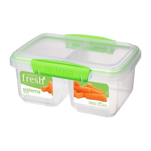 SISTEMA Boîte alimentaire rectangulaire 2 compartiments - 1L