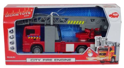 Dickie toys - camion de pompier lumière et son 30 cm