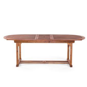 Beliani - Table de jardin - table en bois ovale à rallonges - Toscana