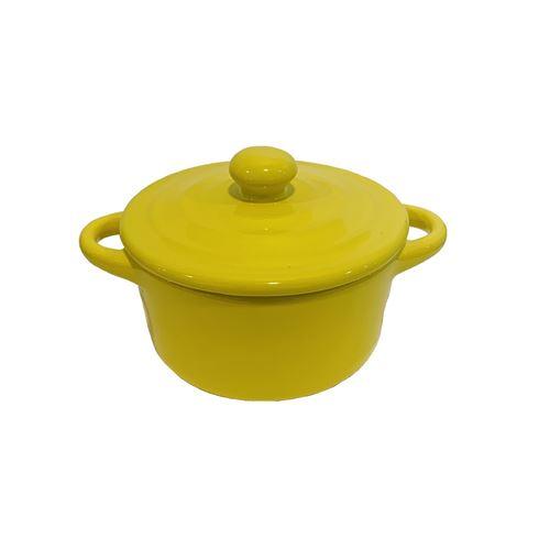 Mini cocotte jaune double poignée avec couvercle HobbyCook