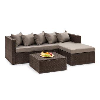 Blumfeldt Theia Lounge Salon de jardin - Canapé d\'angle ...