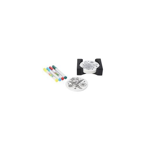 Dessous de verre Just Add Colour - lot de 4 - 10,5 cm - Céramique