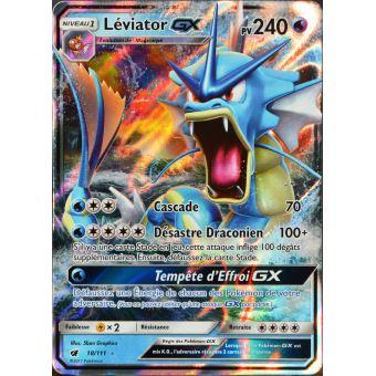 Carte Pokemon 18 111 Leviator Gx 240 Pv Jeu De Cartes Achat Prix Fnac