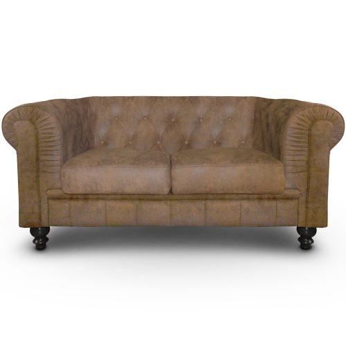 Canapé 2 places Chesterfield Vintage