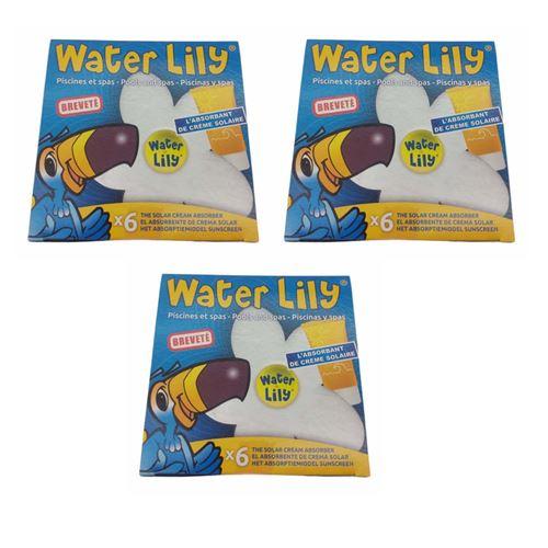 lot de 3 boites Absorbant spécifique des résidus gras - water lilly